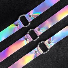 Holographic O Ring Choker (9.35 CAD) ❤ liked on Polyvore featuring jewelry, holographic jewelry and hologram jewelry