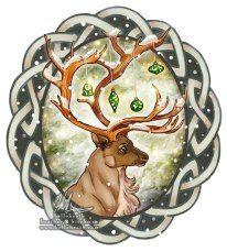 Celtic Christmas Celtic Christmas, Christmas Deer, Winter Christmas, Christmas Crafts, Christmas Decorations, Christmas Printables, Holiday Decor, Celtic Symbols, Celtic Art
