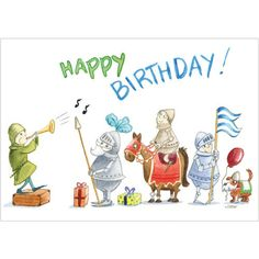 Birthday Knights - Boy's birthday cards from Phoenix Trading  £1.75 per card or £1.40 when buying 10 or more  children children's birthday cards