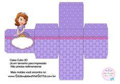 Caixa Cubo 3D Princesa Sofia