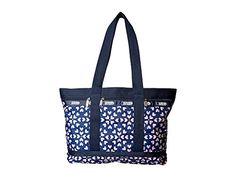 LeSportsac Medium Travel Tote Bag, Heart Burst Navy, One Size