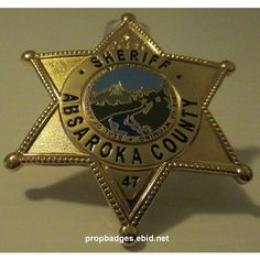Longmire Tv Series, Walt Longmire, Law Enforcement Badges, Sheriff Badge, Black Enamel, Tv Shows, Great Gifts, United States, Styling Tips