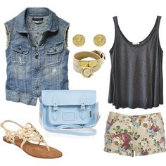 casual summer outfit #2 Cheap rayban.$24.88  http://www.pinterest.com/letitialaurel