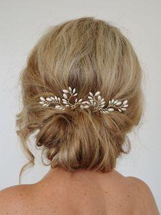 Art Deco Wedding Hair Accessories Fern Leaf by RoslynHarrisDesigns