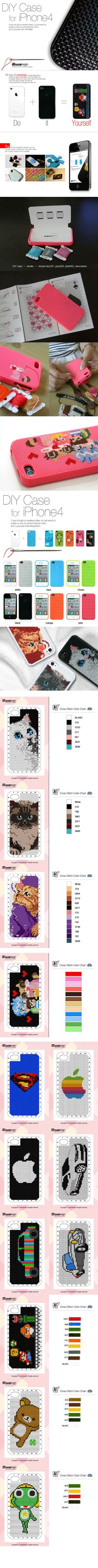 cross stitch iphone cover