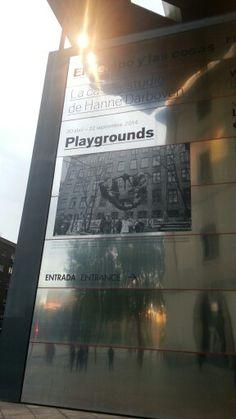 "Cartel de ""Playgrounds"" en el Museo Reina Sofía de Madrid.  #Cartel #Affiche #Arterecord 2014 https://twitter.com/arterecord"