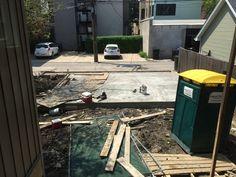 5.21 concrete poured for garage