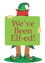 You've Been Elf-ed!  A cute printable poem. Start A family, office or Neighborhood Holiday Tradition