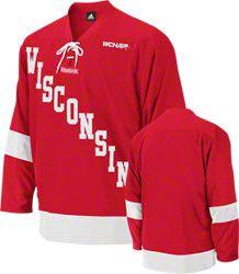 Wisconsin Badgers Reebok Red Premier Hockey Jersey EUR 77.48  http   www.fansedge 9696bcaa443