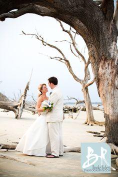 Jekyll Island Georgia weddings on Driftwood Beach.