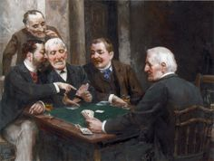 The Card Players by Ulpiano Checa y Sanz - ArtPaintingArtist