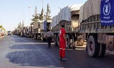 Russian/Syrian missiles attack aid convoy, in a Syrian Arab Red Crescent compound.  Over thirty killed. Shame!!!