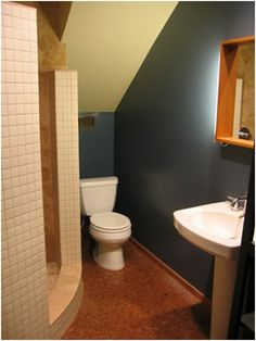 Under Stairs Bathroom Decorating Ideas love the idea of a shelf in the bathroom under the stairs
