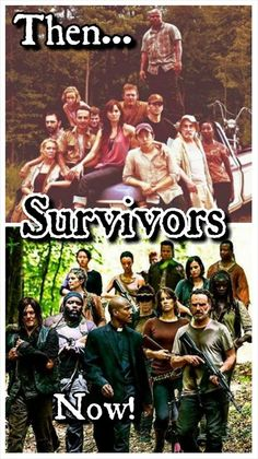 TWD survivors - then and now. The Walking Dead. This years then and now...well..except for BoB ~ sniff