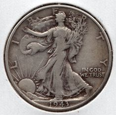 Find 1943 Walking Liberty Half Dollar in the Coins, Paper Money, Bullion - US Coins - Half Dollars / Halves - Liberty Walking category in Webstore online auctions Coins Worth Money, All Currency, Coin Worth, Copper Penny, In God We Trust, Old Coins, Half Dollar, Coin Collecting, Pin Badges