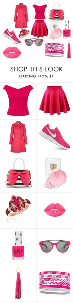 """""""pink days"""" by caceelayne-1 on Polyvore featuring Ted Baker, Yumi, NIKE, Betsey Johnson, Ashlyn'd, LE VIAN, Lime Crime, Topshop, Givenchy and Vicenzo Leather"""