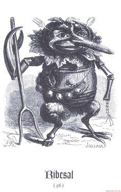 Demon Ribesal from Collin de Plancy's 'Dictionnaire Infernal' (Louis Le Breton).