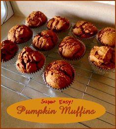 Quick Pumpkin Muffins  http://www.momspantrykitchen.com/quick-pumpkin-muffins.html