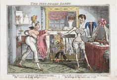 The hen-pecked dandy, 1818. Lewis Walpole Library 818.11.07.01+