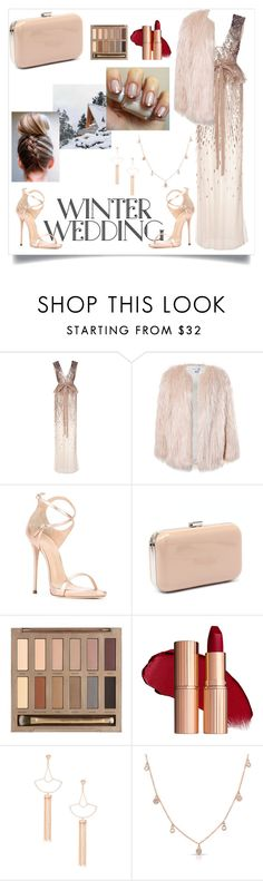 """""""Winter Wedding"""" by adetyapermata-ap ❤ liked on Polyvore featuring Monique Lhuillier, Sans Souci, Giuseppe Zanotti, Verali, Urban Decay, Sole Society and Anne Sisteron"""