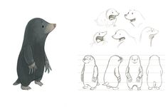 23/04 I really like this character design of a mole. It's very simple, and includes a colour reference, expressions and a turnaround. -SL