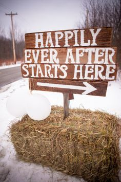 Happily Ever After Starts Here - Wedding Sign