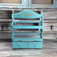 Hey, I found this really awesome Etsy listing at https://www.etsy.com/listing/215861504/turquoise-spice-rack-beach-cottage-spice