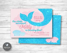 Mermaid Party Invitation Mermaid Invitation Mermaid Invite