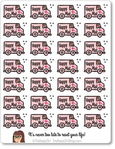 PLANNER ICONS HAPPY MAIL TRUCKS