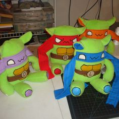 Hello everyone this Is our Enky plush designs for TMNT