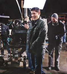 Jensen Ackles on set <3 #SupernaturalCast #FreakingAdorbs