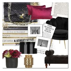 """Curl Up: Reading Nook"" by pat912 ❤ liked on Polyvore featuring interior, interiors, interior design, home, home decor, interior decorating, Eichholtz, Robert Abbey, Paper Whites and Karl Lagerfeld"
