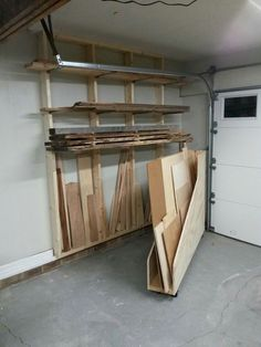 Learn to Launch your Carpentry Business - Garage Storage: Shelving Units, Racks, Storage Cabinets Learn to Launch your Carpentry Business - Discover How You Can Start A Woodworking Business From Home Easily in 7 Days With NO Capital Needed! Small Garage Organization, Diy Garage Storage, Storage Shelving, Shelving Units, Organization Ideas, Storage Ideas, Plywood Storage, Lumber Storage Rack, Tool Storage