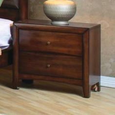 Check out the Coaster Furniture 200642 Hillary 2 Drawers Night Stand in Walnut - 200642 priced at $255.23 at Homeclick.com.
