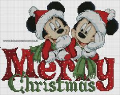 Mickey & Minnie Merry Christmas 2/3