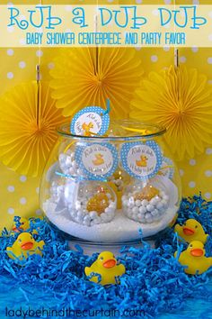 Rub a Dub Dub Baby Shower Centerpiece and Party Favor 1
