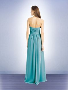 Generously adorned with multiple panels of fine pleating, the Bill Levkoff 741 dress vows to make a romantic touch on the grandiose celebration. Soft chiffon comprises the whole length of this strapless A-line gown, with graceful pleating that takes off asymmetrically from the sweetheart bust and repeatedly interlace as they move towards the inverted basque waist. Rich shirring gives more volume to the full length skirt, as it graces the front and back panel languidly draping towards the…