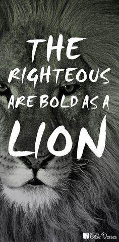 bold as a lion