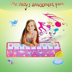 100 * 36 CM Play Mats Baby Toys Music Play Mats Piano Music Carpet Blanket Educational Learning Mat Touch Kids Toys Best Gift