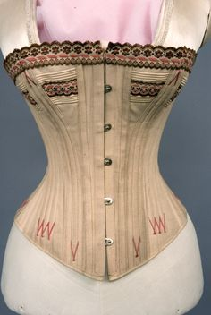 1875-1890 ___ Corset ___ fabric not given ___ from The Tasha Tudor Collection at 2012 Whitaker Auction