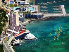 La voile à MarseilleA 800 kilomètres de Paris (et faute de mer), c'est la ville de Marseille qui a été préférée à Hyères, La Rochelle ou Brest pour accueillir les skippers.