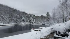 Ridge Pond after a snowstorm
