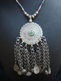 Vintage Ethiopian or Yemeni necklace with silver by familyonbikes, $95.00