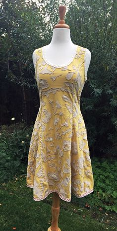 Yellow Dress ~   One of the wonderful things about visiting The Factory , the Alabama Chanin  brick and mortar store in Florence, Alabam...