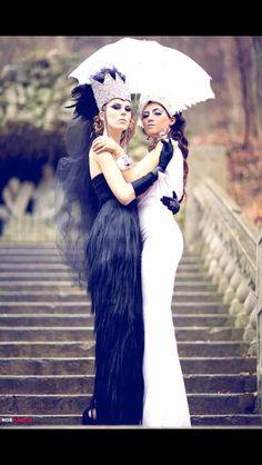 Good vs Evil !!design Diana Gamboa makeup and hair