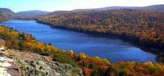 Lake of the Clouds located in the UP of Michigan within the Porcupine Mountains Wilderness State Park.