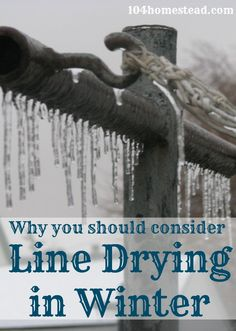 Winter Line Drying: Did you know that heat is not required when drying your clothes outdoors? In fact, your clothes may actually dry faster when it& or less! Survival Prepping, Emergency Preparedness, Survival Gear, Survival Quotes, Line Drying Clothes, Diy Clothes, Living Off The Land, Off The Grid, Back To Nature