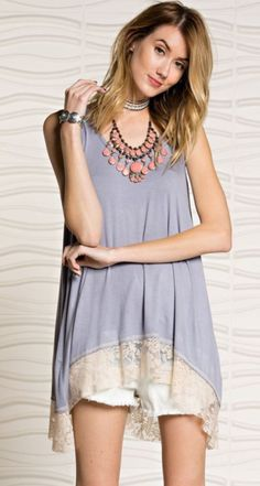 a0ec4d1f2921 High and Low Lace Tank Lace Tank