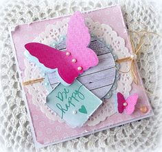card butterfly butterflies square card Let's Fly!