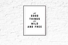The Native State designs inspirational prints and stationery for your home and office. Wild And Free, East London, Limited Edition Prints, Framed Art Prints, Relax, Good Things, Double Trouble, Artist, Artists